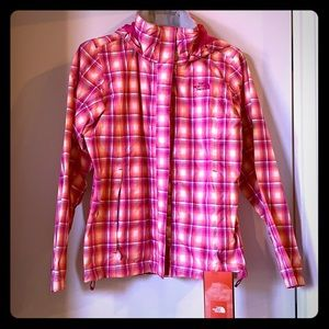 The north face neon plaid waterproof shell